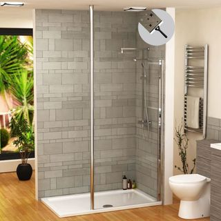 Walk in shower enclosure is trendy and healthy