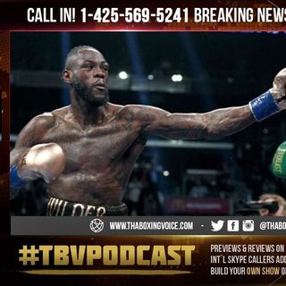 ☎️ Deontay Wilder Live.😱Addresses Tyson Fury Espn Deal 😳💯