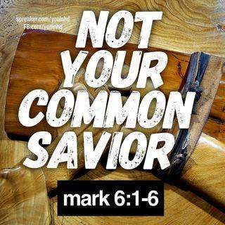 Jesus, No Ordinary Savior Mark 6-1-6