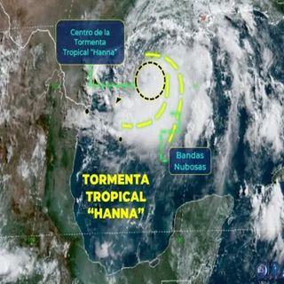 La Tormenta tropical Hanna dejara fuertes lluvias a su paso este fin de semana