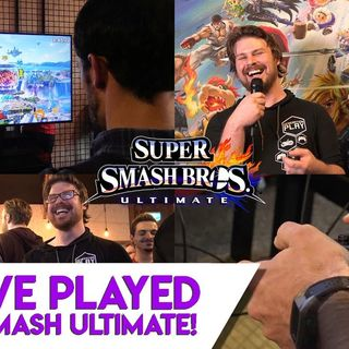 We played Super Smash Bros Ultimate Switch!