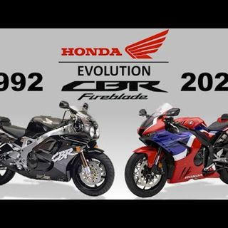 THE EVOLUTION OF HONDA CBR FIREBLADE 1992 - 2019