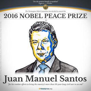 Presidente Santos, Patrono del claustro: Premio Nobel de la Paz 2016