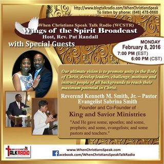 Pastor Kenneth Smith & Evangelist Sabrina Smith on Wings of The Spirit Broadcast