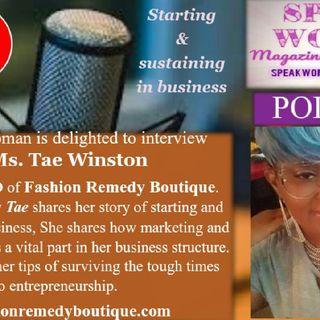 Speak Woman interview with Ms. Tae Winston