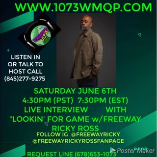 Live Interview w/ Freeway Ricky Ross 7:30 pm est