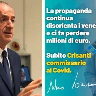 """Covid-19, a Jesolo 43 casi. Zaia: """"Infetti in fermo per legge"""". Lorenzoni: """"Crisanti commissario"""""""