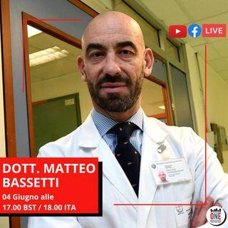 """Dott. Matteo Bassetti: """"Venite in Italia, ora è più sicura di altri Paesi"""""""