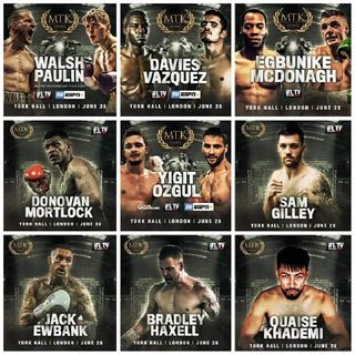 Preview Of The MTK Global Card Headlined By Ryan Walsh Vs Lewis Live On IFLTV In UK/Ireland And ESPN+ In America!