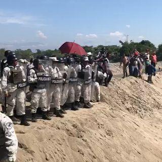 La Guardia Nacional contuvo a caravana migrante