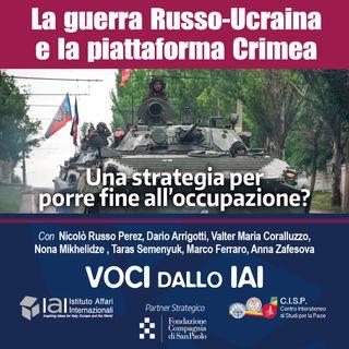 La guerra russo-ucraina e la Piattaforma Crimea: una strategia per porre fine all'occupazione?