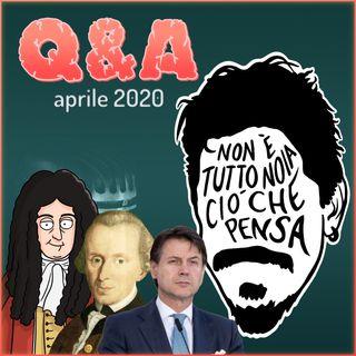 Libertà e DPCM, Neuroscienze e Mondi Possibili, Kant e Leibniz - Q&A di aprile
