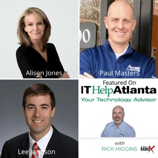 IT Help Atlanta with Rick Higgins: Alison Jones, LeVino Jones Medical Interiors, Paul Masters, Anago Cleaning Systems of Atlanta and Lee Jam