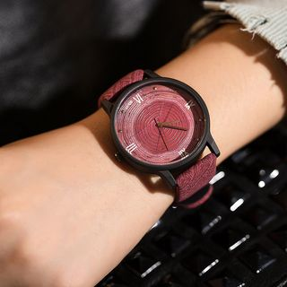 Wooden watches for men and women silicone strap ideal gifts items