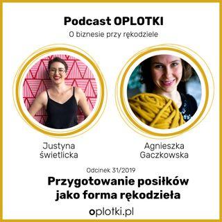 31/2019 - Justyna -OWSIANA - Świetlicka - przygotowanie posiłków jako forma rękodzieła