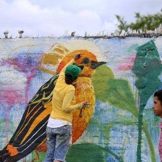 NUESTRO OXÍGENO Mural-Pintores de aves - Bióloga Sandra Criollo