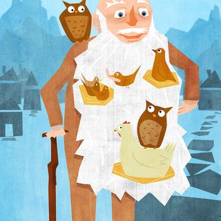 The Old Man And The Birds