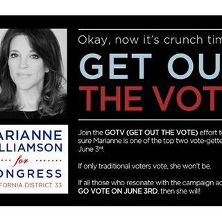 Marianne Wiliamson for Congress!