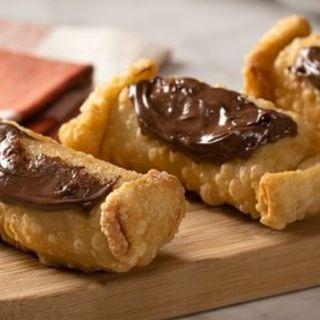 Rollitos Crujientes de Plátano con Nutella