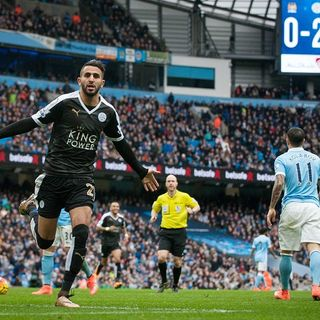 Riyad Mahrez and Leicester City Destroy Manchester City 3-1.