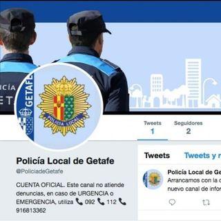 @PoliciadeGetafe: Nuevo canal de Twitter de la Policía Local