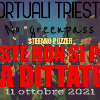 """Stefano Puzzer: """"Se non revocano il green pass Il 15 ottobre bloccheremo il porto di Trieste"""""""
