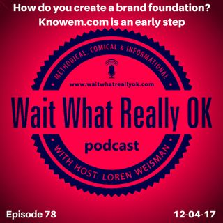 How do you create a brand foundation? Knowem.com is an early step.