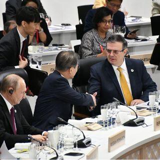 Ebrard inició su participación en el G-20