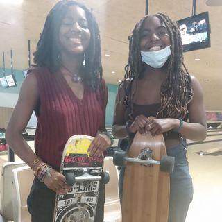 Black Girls Skate Boarding