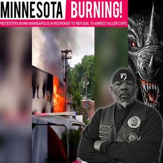 Minnesota Burning 'Biker's Bird's Eye View of Minneapolis Burning'