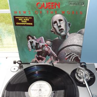 Queen Side Two of News Of The World on White Label Promo