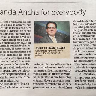 Banda ancha for everybody