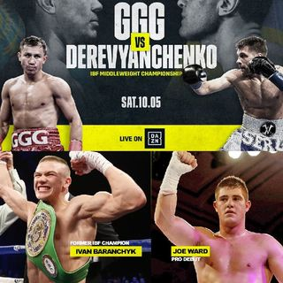 Preview Of The Huge DaznUSA Card Headlined By Gennady Golovkin-Sergiy Derveyanchenko For The IBF+IBO Middleweight Title's On DaznUSA And Sky
