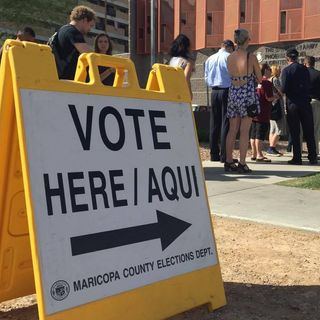 Arizona Voters Angry over Long Lines