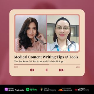 EP 13 - Medical Content Writing Tips and Tools with Winnie Ocaña