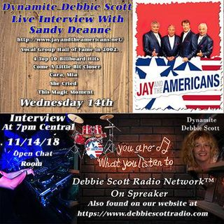 INTERVIEW WITH SANDY DEANNE OF JAY AND THE AMERICANS !!!  11-14-18