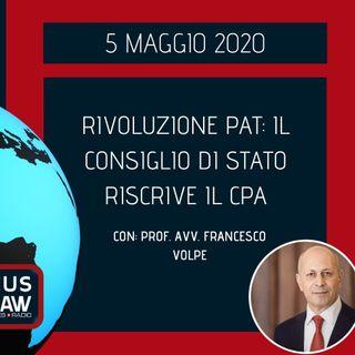 BREAKING NEWS – RIVOLUZIONE PAT: IL CONSIGLIO DI STATO RISCRIVE IL CPA – PROF. AVV. FRANCESCO VOLPE