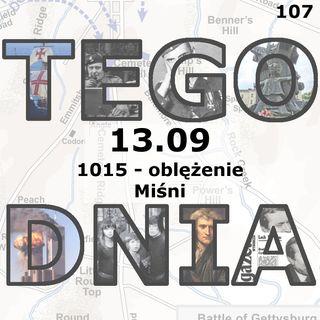 Tego dnia: 13 września (oblężenie Miśni)
