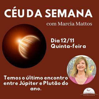 Céu da Semana - Quinta, dia 12/11: Temos o último encontro entre Júpiter e Plutão do ano.