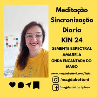 MEDITAÇÃO DE SINCRONIZAÇÃO - KIN 24- Semente Espectral Amarela