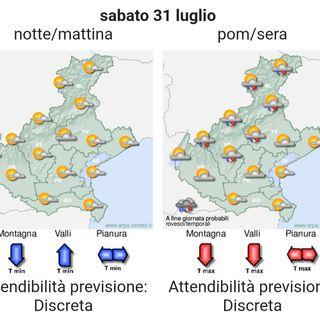 Previsioni meteo 30/7 – 2/8: instabilità in aumento, a tratti perturbato