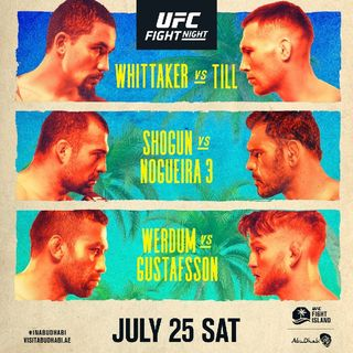 Preview Of The UFC Fight Island Card Headlined By Rob Whitaker - Darren Till In A Massive Middleweight Fight In Abu Dhabi Live On ESPN
