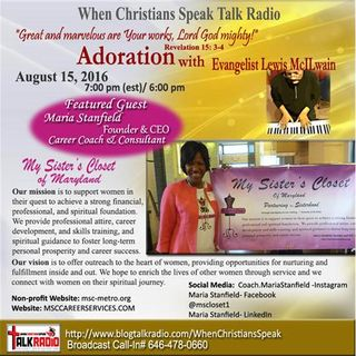 Adoration with Evangelist Lewis McIlwain & Featured Guest, Maria Stanfield