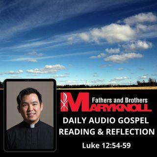 Friday of the Twenty-ninth Week in Ordinary Time, Luke 12:54-59
