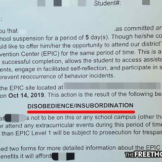 Student Suspended for 5 Days Over 'Taxation is Theft' Hat, 'End the Drug War' Flyer +