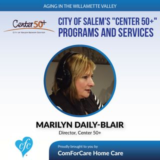 "3/21/17: Marilyn Daily-Blair with City of Salem's ""Center 50+"" 