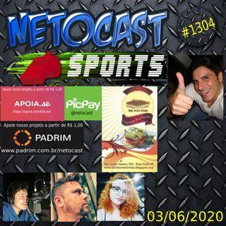 NETOCAST 1304 DE 03/06/2020 - ESPORTES - F1 - FUTEBOL - TAEKWONDO