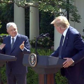 Los Mandatarios de Estados Unidos y México celebran victoria de T-MEC