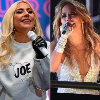 Lady Gaga y Jennifer López en la posesión de Joe Biden.