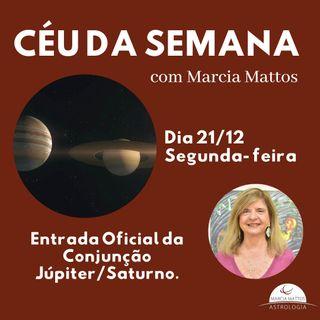 Céu da Semana – Segunda, dia 21/12 – Entrada Oficial da Conjunção Júpiter/Saturno no Signo de Aquário